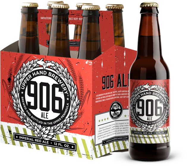 906 Ale 6 pack and bottles