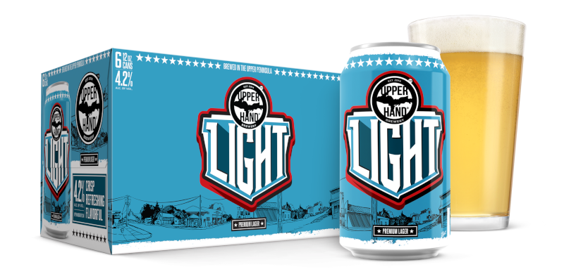 Upper Hand Light Lager Brand Rendering