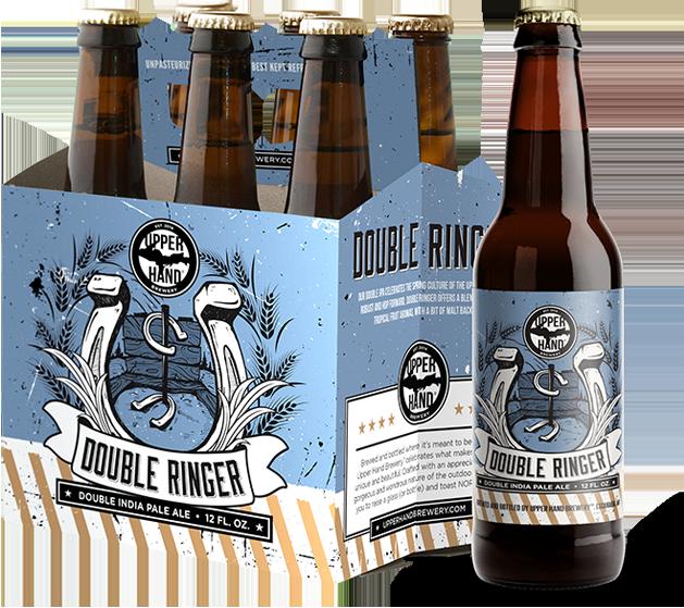 6 Pack Bottles of Double Ringer DIPA
