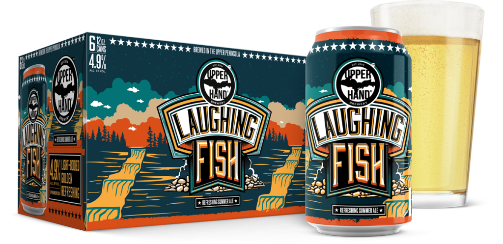 Laughing-Fish-Can&6Pack&Gla