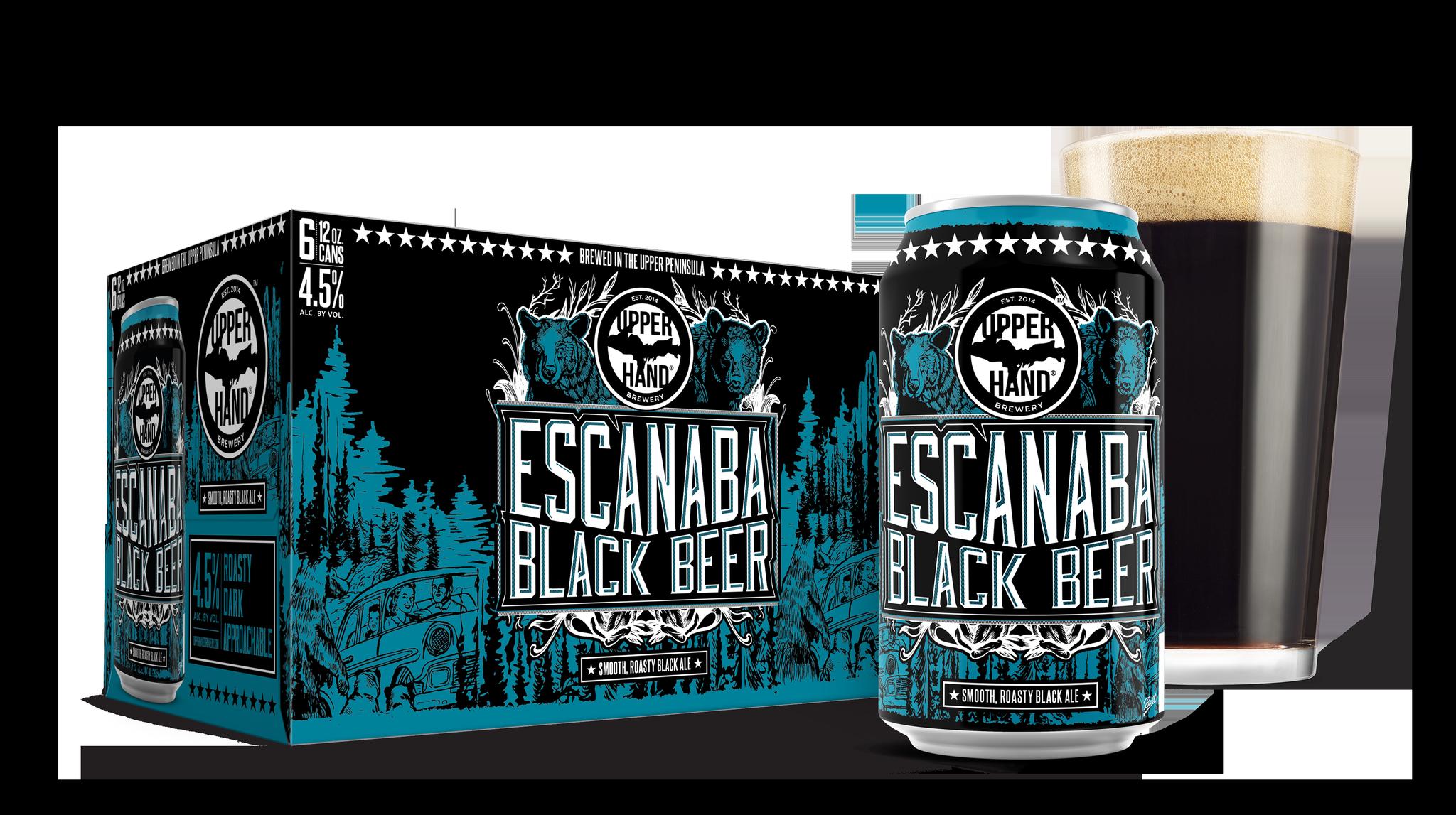 Escanaba Black Beer Brand Rendering