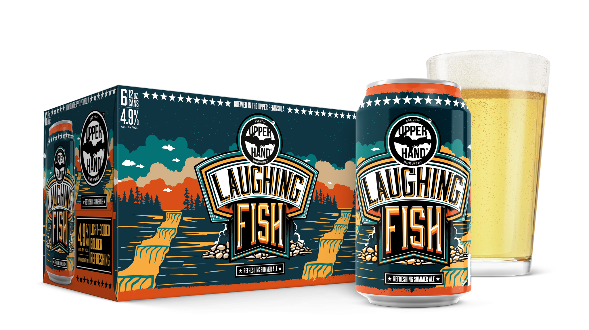 Laughing Fish Summer Ale Brand Rendering