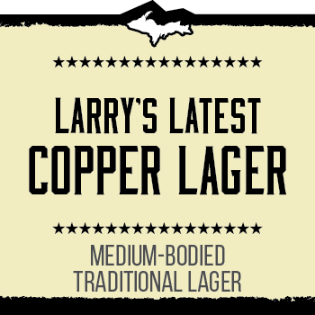 Larry's Latest Copper Lager Brand Rendering