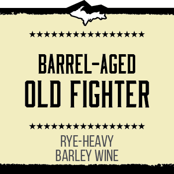 Barrel-aged Old Fighter Brand Rendering