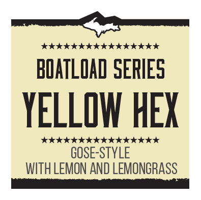 Boatload Brewers' Series – Yellow Hex Brand Rendering