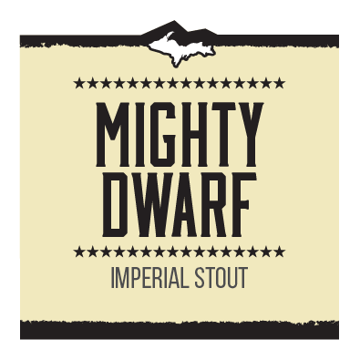 Mighty Dwarf Imperial Stout Brand Rendering
