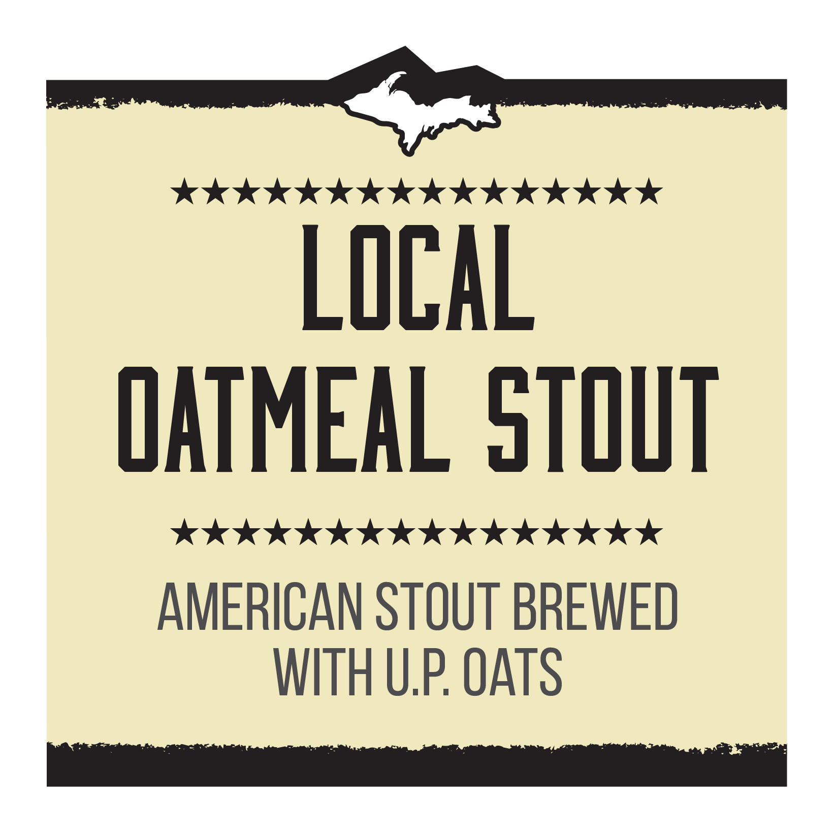 Local Oatmeal Stout Brand Rendering
