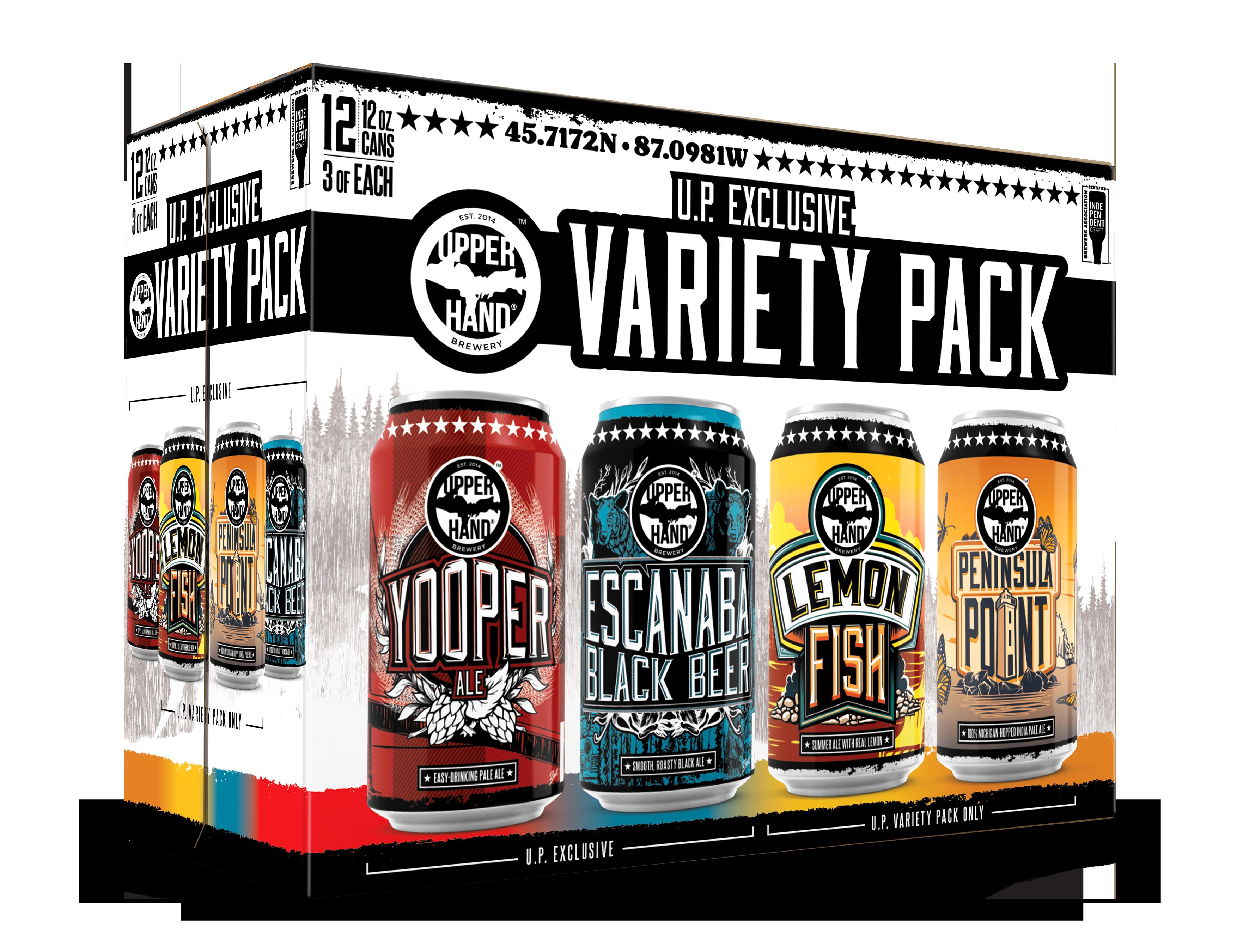 U.P. Exclusive Variety Pack Brand Rendering